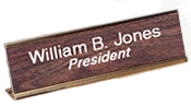 "2"" x 10"" Desk Nameplate w/Holder"