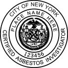 NYC Certified Asbestos Investigator Seal