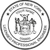 New York Professional Engineer Stamp/Seal, New York Registered Architect Stamp/Seal, NYC Certified Asbestos Inspector Stamp/Seal. NYC Licensed Master Plumber Stamp/Seal